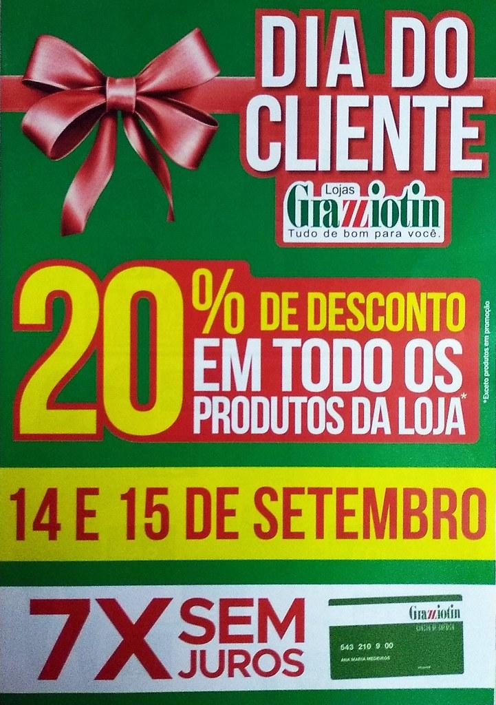 Confira o Dia do Cliente das Lojas Grazziotin - 14 e 15 de setembro