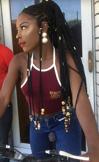 Top Braided Ponytail Hairstyles 2019 For Black Women