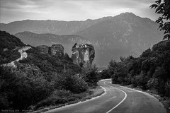 Road through Meteora