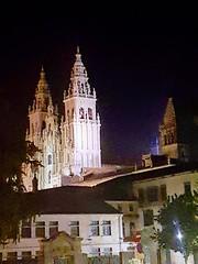 Las torres de la Catedral de Santiago de Compostela por la noche Verano 2018