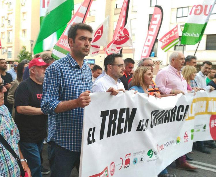 AxSí tren Algeciras Bellido cabecera manifestación (5)3