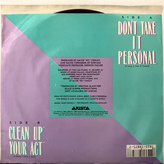 JERMAINE JACKSON:DON'T TAKE IT PERSONAL(JACKET B)