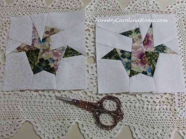 Paper Pieced Cranes Orizuru at From My Carolina Home
