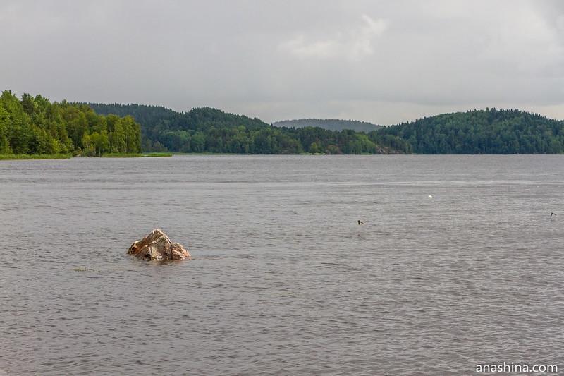 Залив Ораванселькя, Ладожское озеро