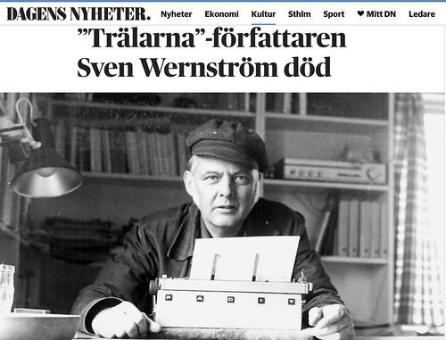 Sven Wernström in screencap from Dagens Nyheter