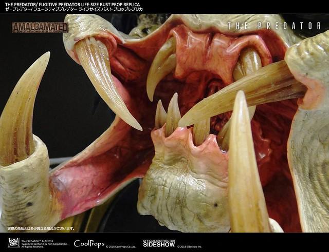 口腔的細小血管都看得一清二處呀!! CoolProps《終極戰士:掠奪者》逃犯終極戰士 ザ・プレデター フジティブ・プレデター 1:1 比例胸像作品
