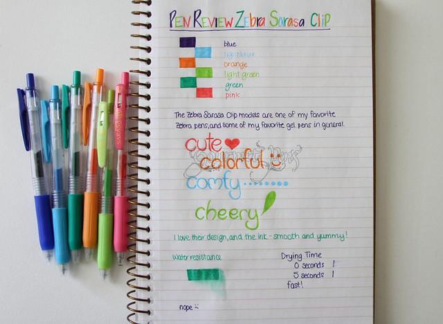 Zebra Sarasa Clip Gel Pens @ZebraPen @ZebraPenUK 3