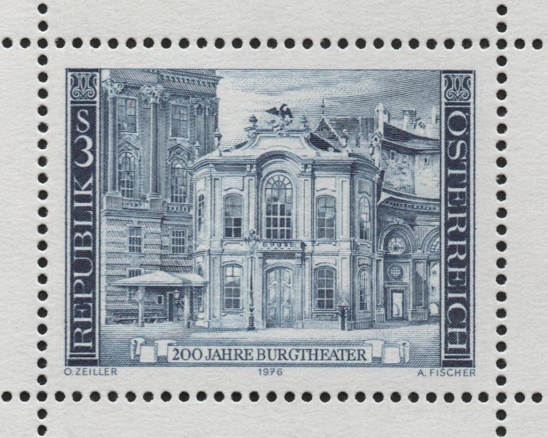 Austria - Scott #1030a (1976), 3-schilling Old Burgtheater