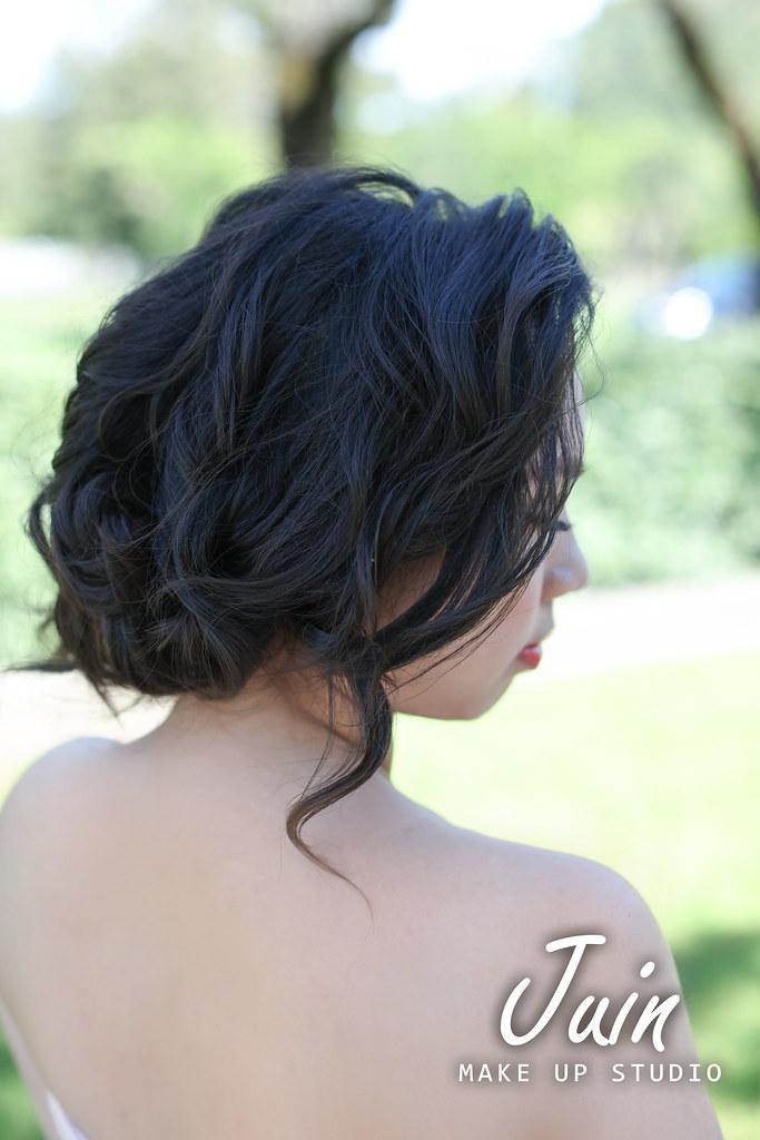 """""""黑髮新娘,黑髮盤髮造型,黑髮婚紗造型"""""""