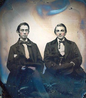 Edward W. Schauffler and J.A. French (Sixth-Plate Ambrotype by James M. Perry, Nashua, New Hampshire)