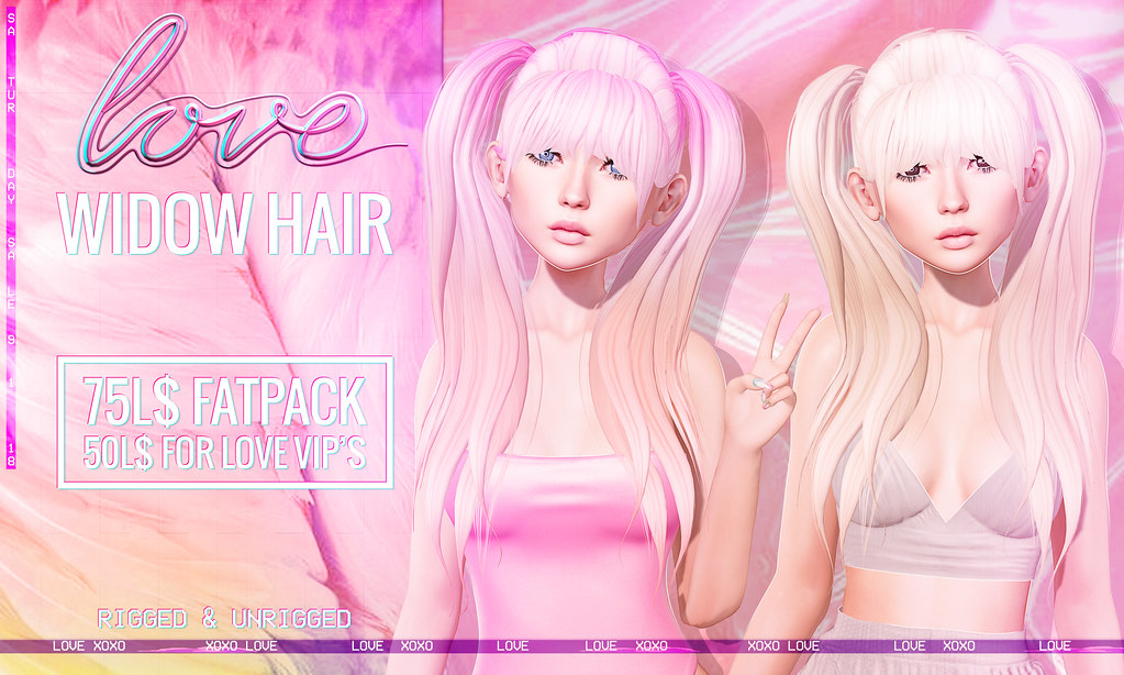 Love [Widow] Hair FATPACK - The Saturday Sale! - TeleportHub.com Live!