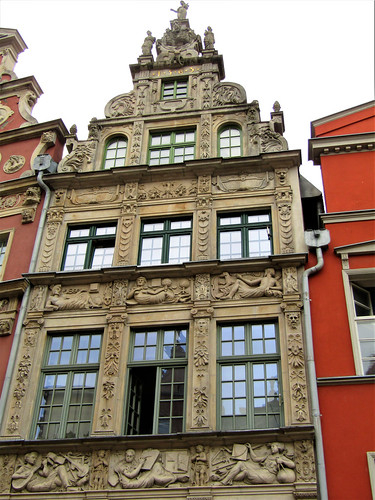 beautiful house in Long Street in Gdansk