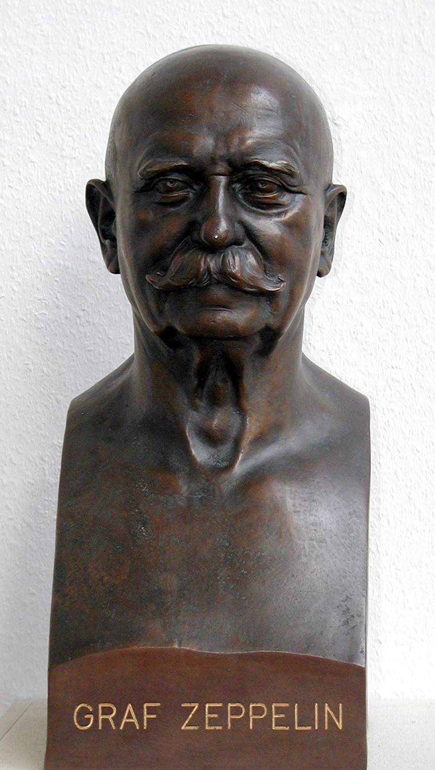 A bust of Count Zeppelin in the AERONAUTICUM in Nordholz, Germany.