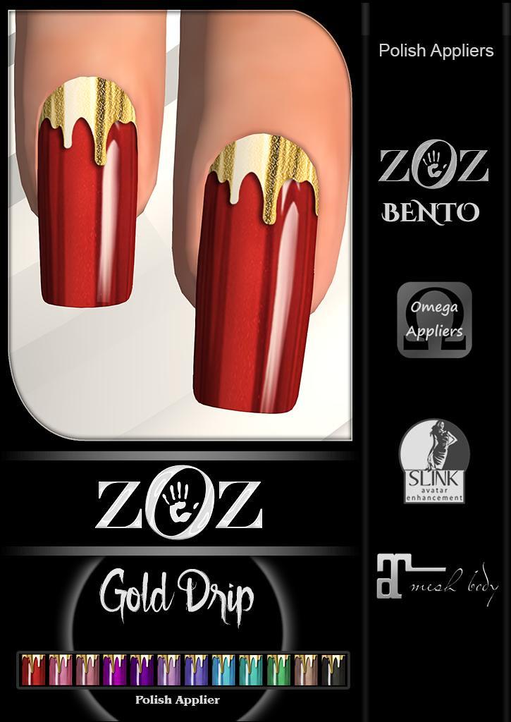 {ZOZ} Gold Drip pix L