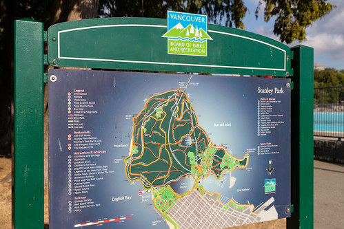 Map of Vancouver Stanley Park