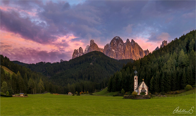 San Giovanni at Sunset, Val di Funes, Italy