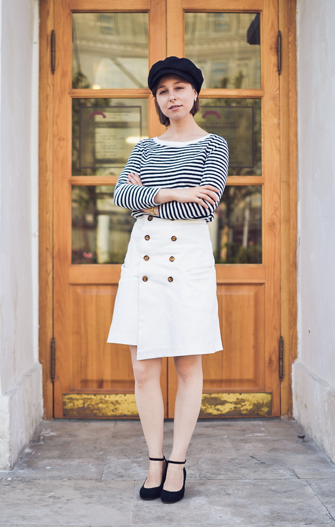 double button wrap skirt vikisews amelia юбка амели-5