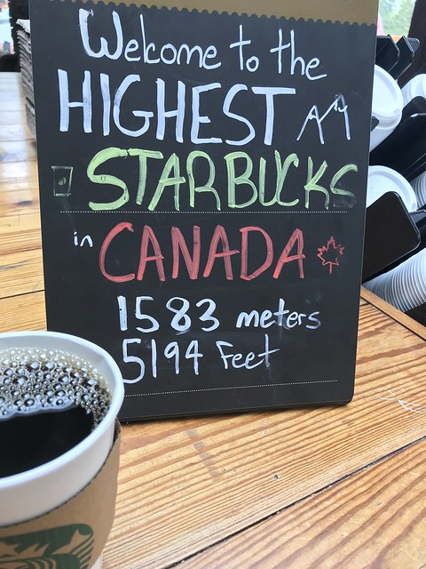 Fueled up at the highest Starbucks in Canada