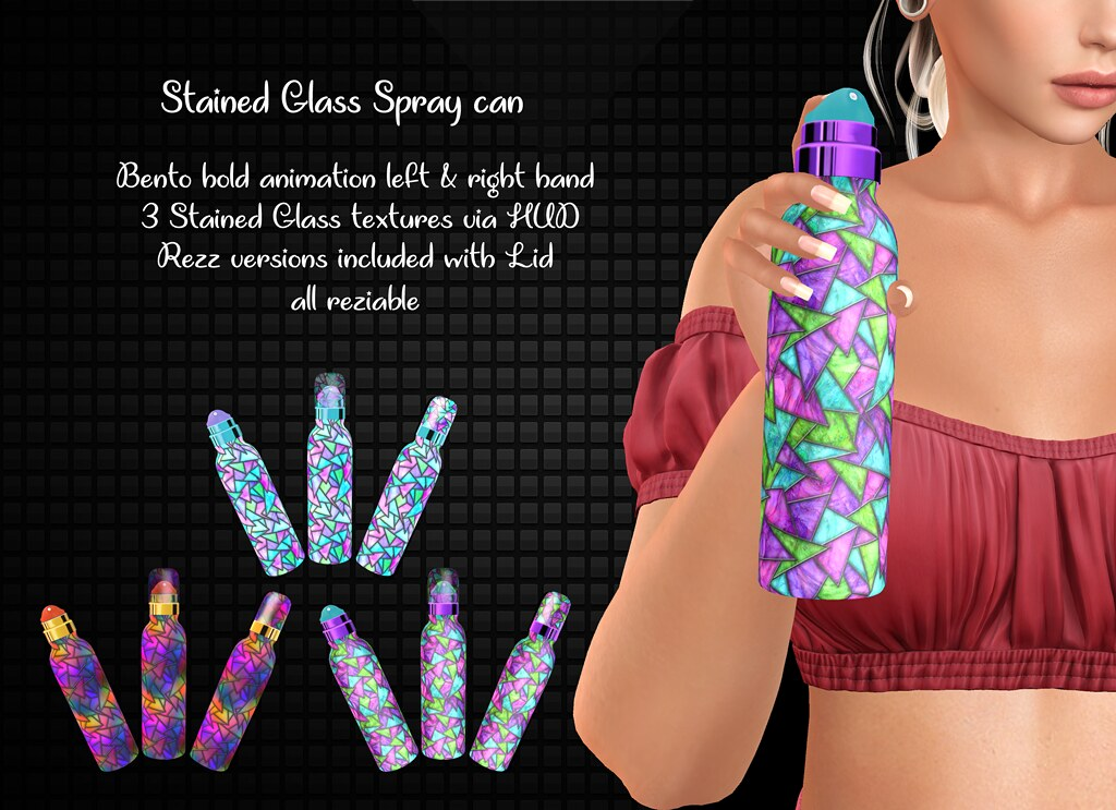 {Flair 'n' Style} Stained Glass Spray can