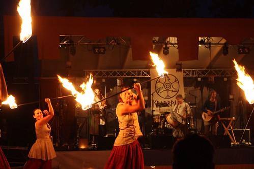Eldshow med Pyrox och Kalabalik