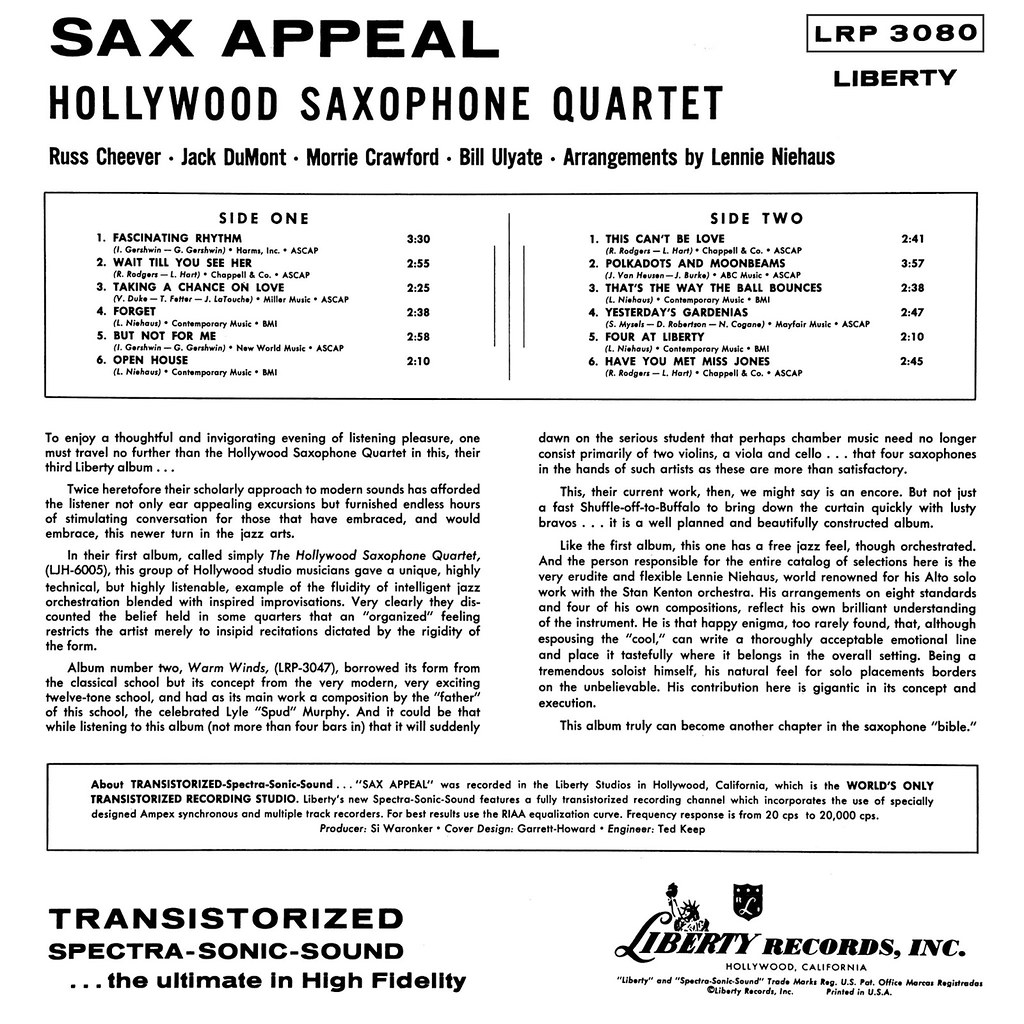 Hollywood Saxophone Quartet - Sax Appeal b