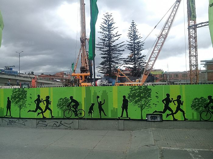 Mural in Bogota.