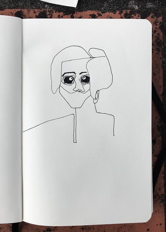 auto retrato sem barbeiro