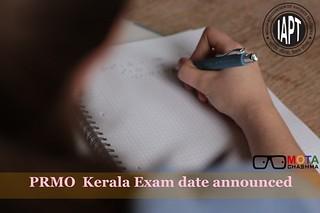 PRMO Kerala Exam date