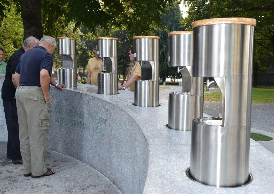 Словения собирается продавать франшизу пивного фонтана