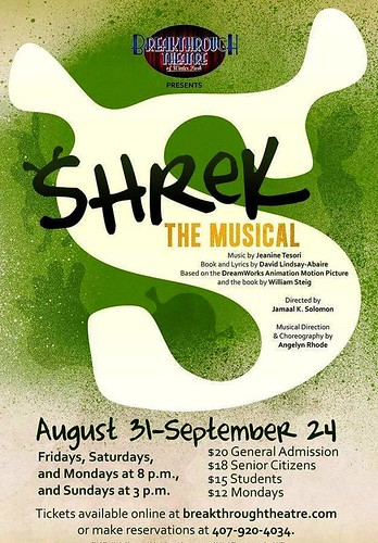 """Shrek the Musical! at Breakthrough Theatre"