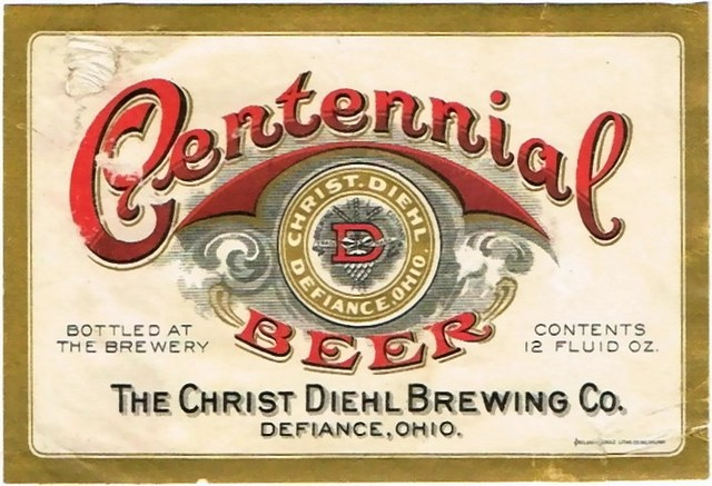Centennial-Beer-Labels-The-Christ-Diehl-Brewing-Co--Post-Prohibition-1909