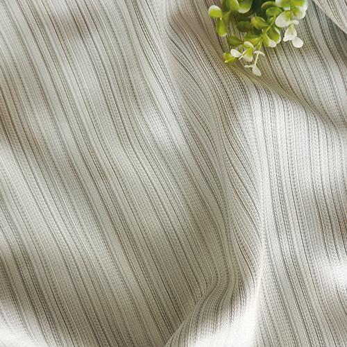 銀直紋三明治 簡約無印 素面風 防光(遮光)窗簾布DA1290162
