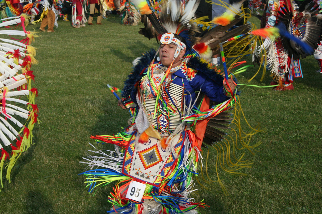 A dancer in the Mi'kmaq Celebration. Photo taken on June 26, 2010.