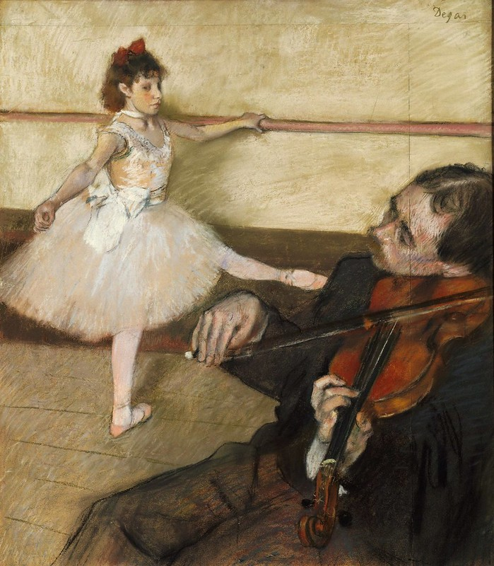 Edgar Degas - The dance lesson (c.1879)