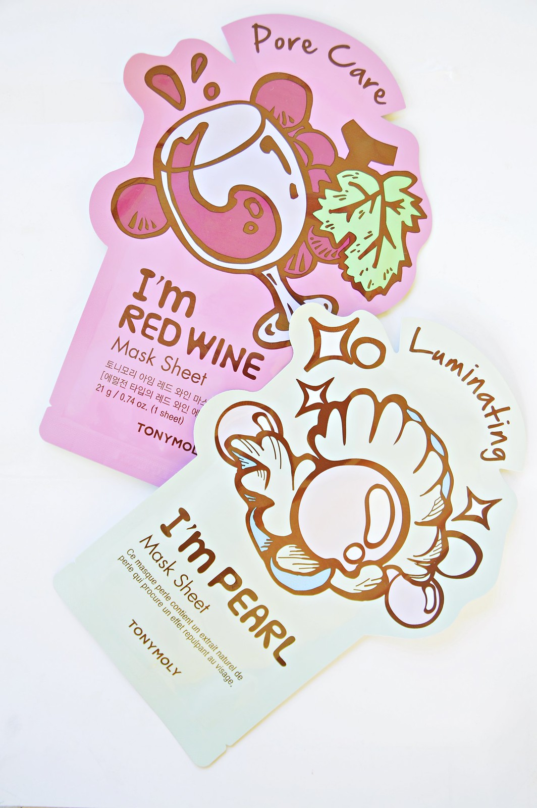 TonyMoly MASK SHEET I'm Pearl and I'm Red Wine