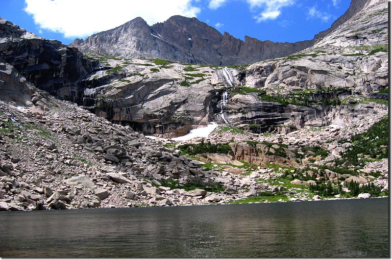 Black Lake is surrounded by high rock and magnificent peaks