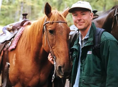 Mark, twenty years ago at Lake Louise