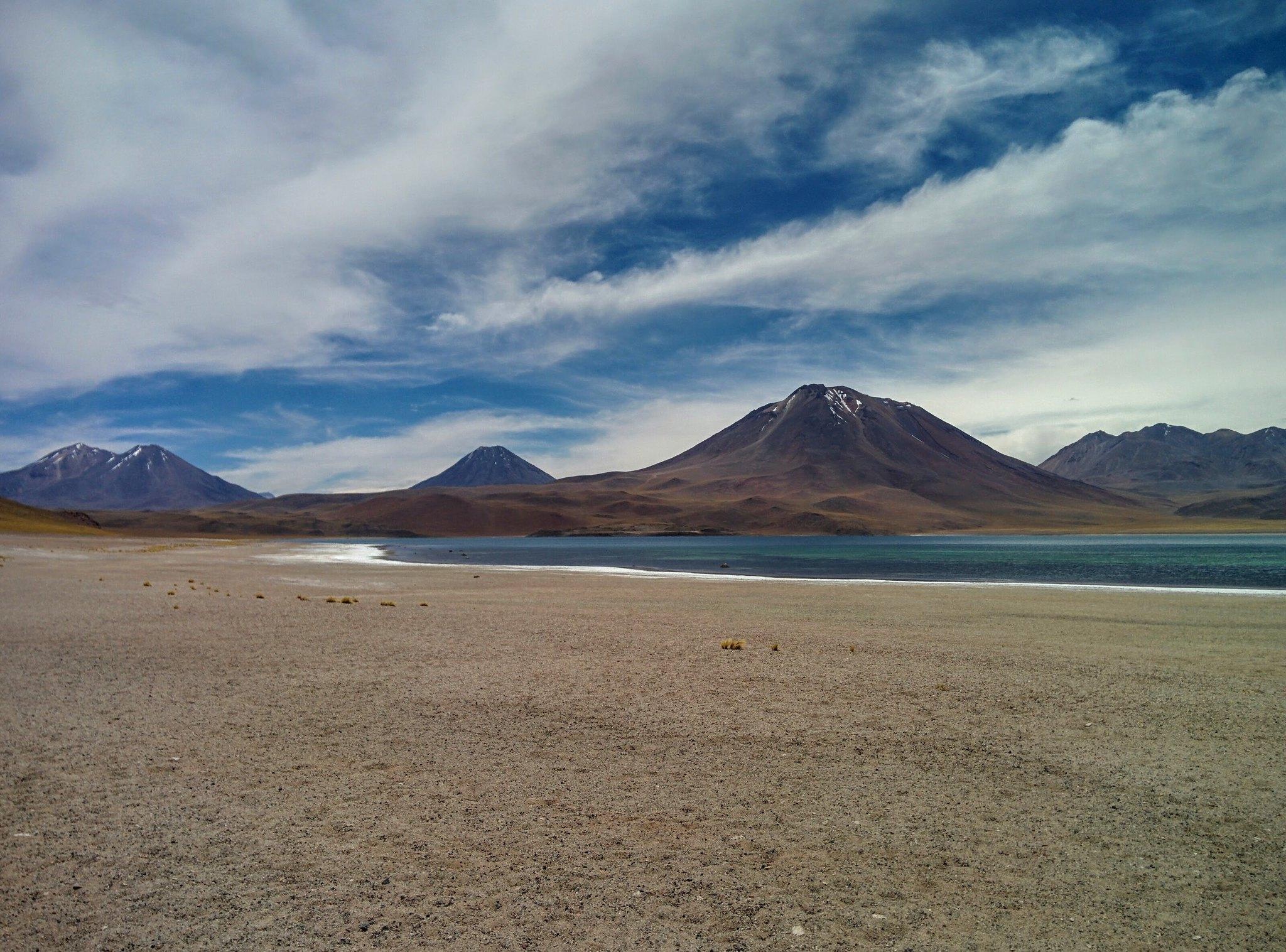 Laguna Miscanti and mountain range