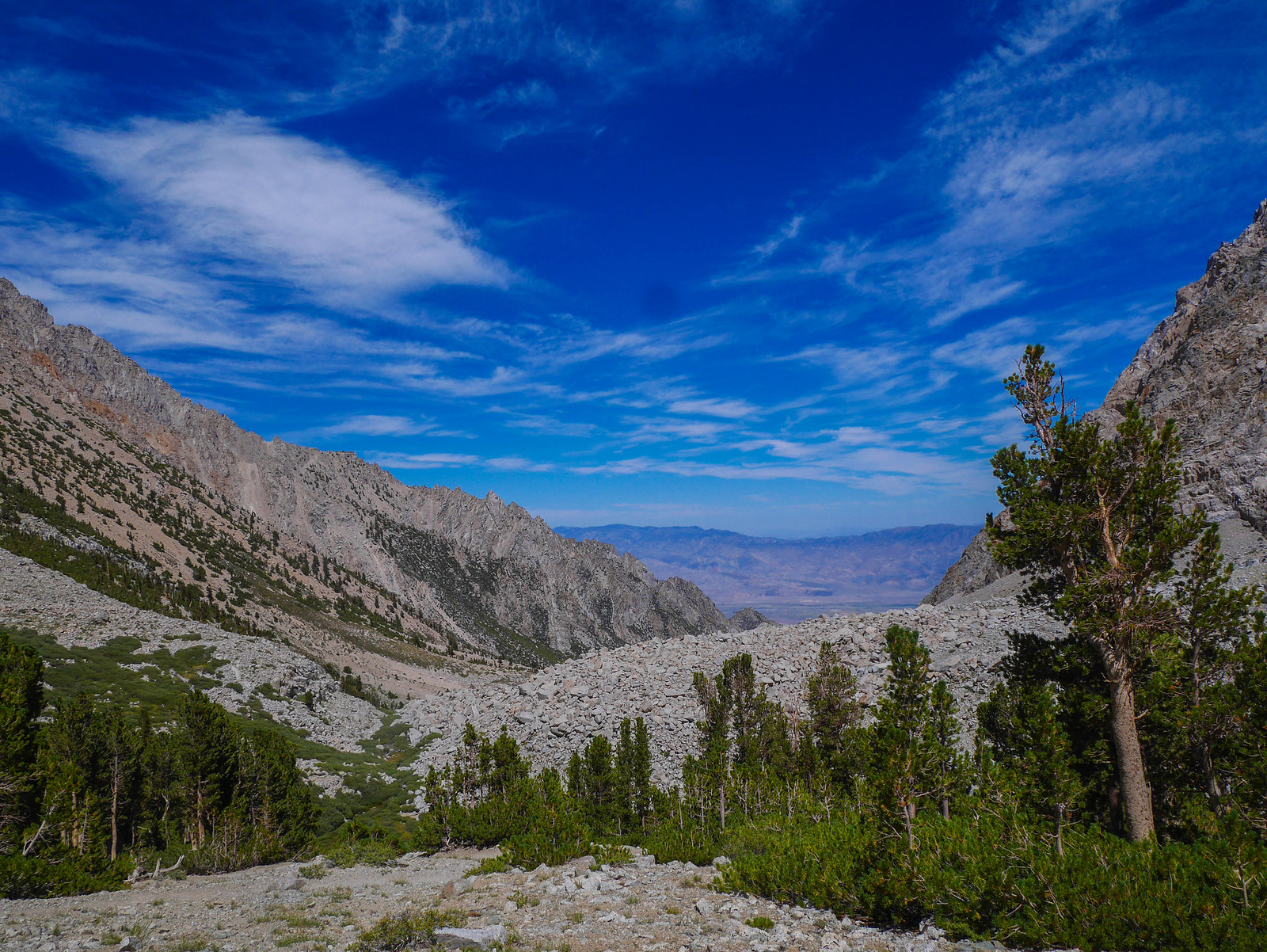 Owens Valley from the Shepherds Pass trail. I had cell service here so checked in with loved ones.