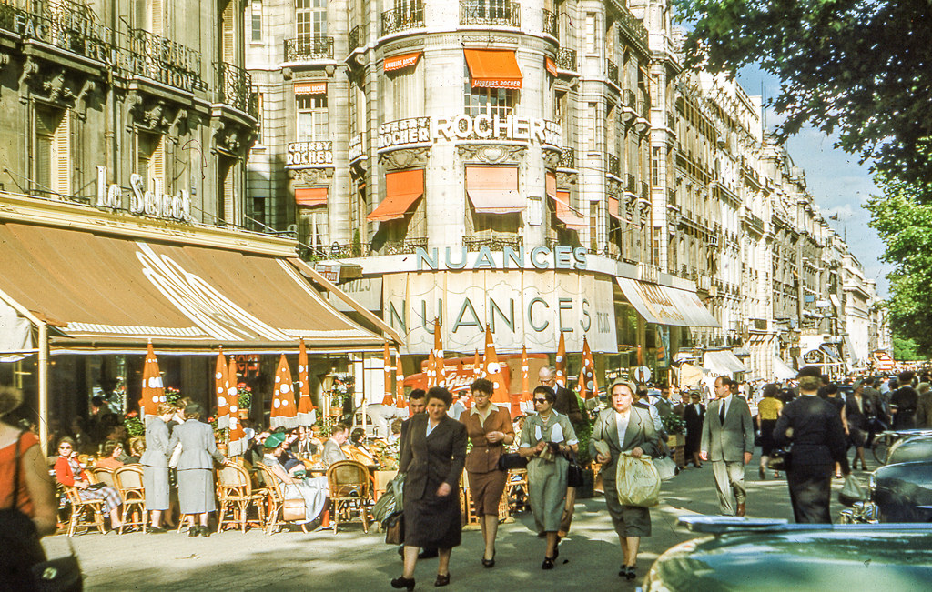 street scenes of France from the 1950s to 1960s (2)