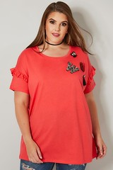 LIMITED_COLLECTION_Pink_Embellished_T-Shirt_With_Frill_Sleeves_132753_c53c