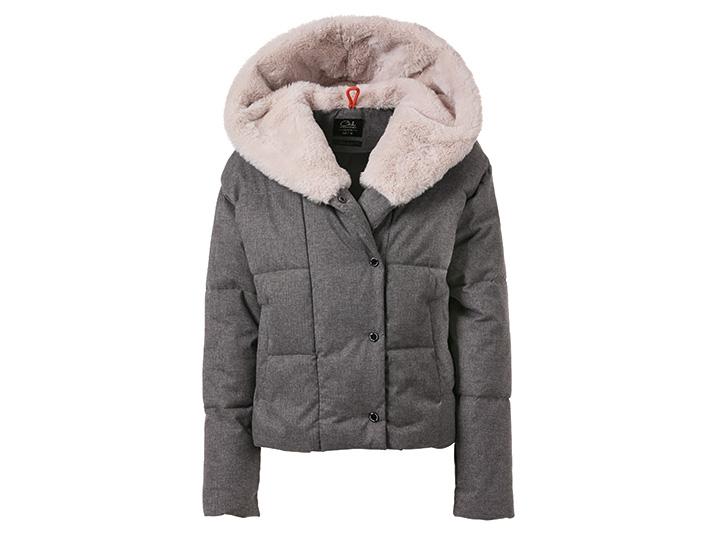 Grijze puffer jacket