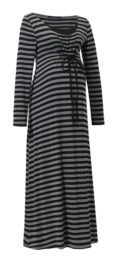 Lona dress grey stripes