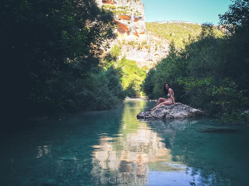 · Río Vero · Pasarelas del Vero · Alquézar · Pasarelas de Alquézar · Ruta por el rio Vero · Huesca · Aragón ·
