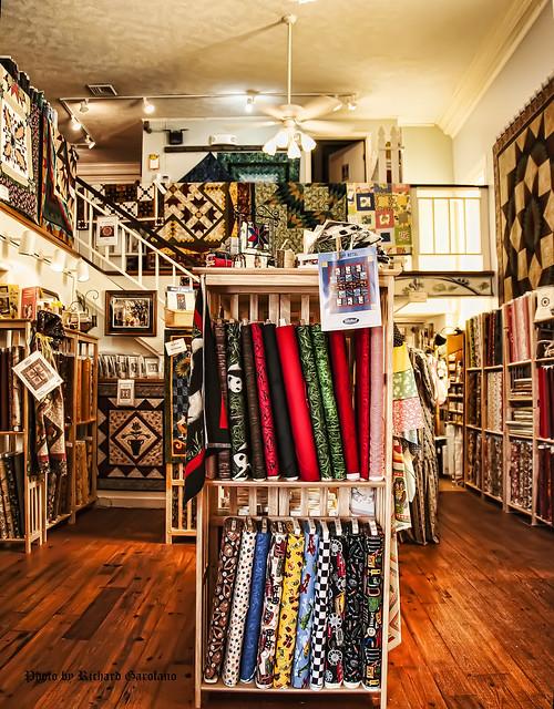 Fabric store located on Main Street in Madison VA