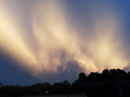 Storm clouds over the Dordogne, France.