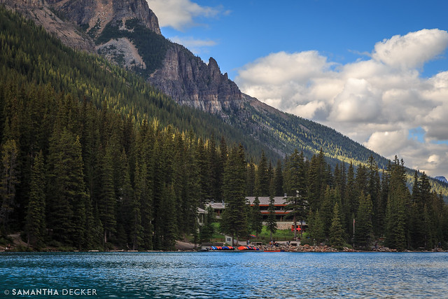 Looking Back at the Moraine Lake Lodge