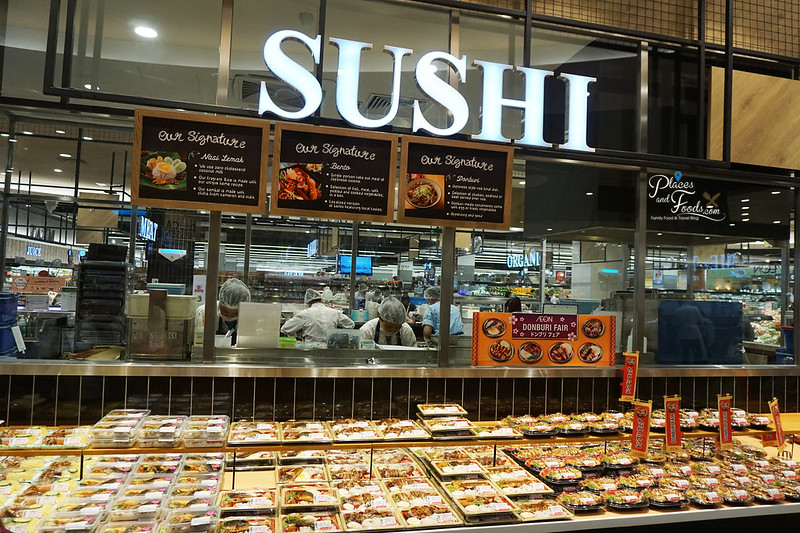 aeon tebrau city sushi section