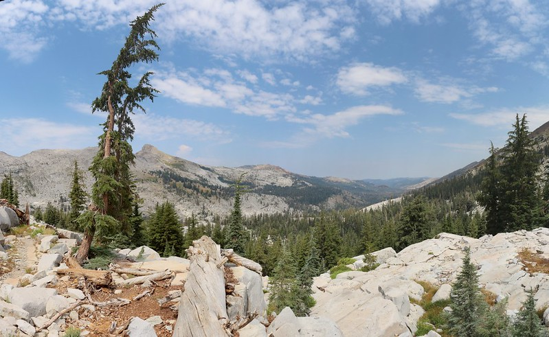 Looking north down Rockbound Valley from Mosquito Pass on the Rubicon Trail
