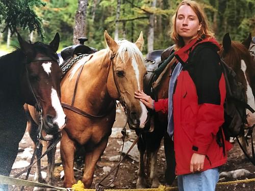 Me: twenty years ago at Lake Louise.